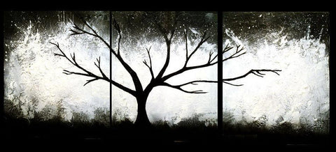 "tree art black and white art for sale "" the Wild Wood  "" tree of life on canvas"
