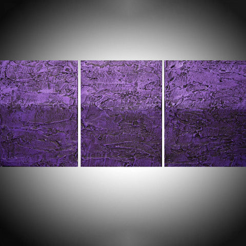 "tree wall art canvas ""Purple Tones"" 2 3 piece canvas paintings"