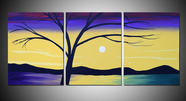 "tree wall art "" Lake of Peace "" modern art for sale"