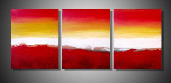 "triptych art 3 panel wall art ""Colour Slats"" 69x30 cm 3 panel canvas wall art canvas pop office home abstract contemporary original"