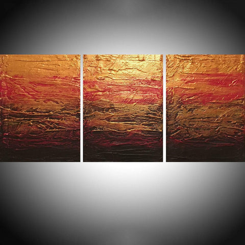 triptych art Beauty in the Breakdown 4 big sizes