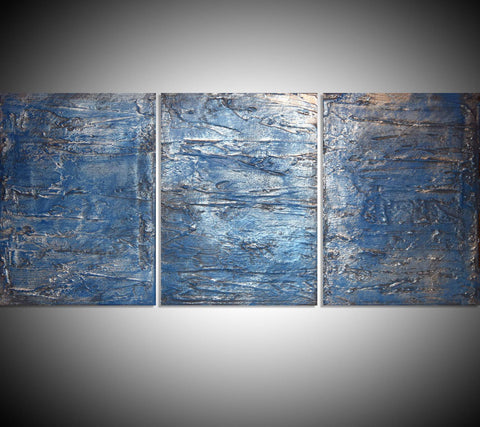 triptych art Silver Triptych 2 metal wall art