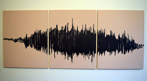 "triptych canvas painting for sale "" The Symphony of Life """