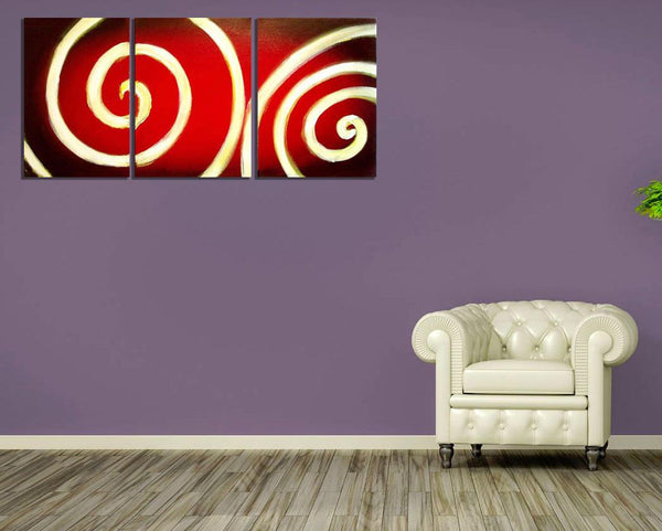 "triptych canvas paintings for sale "" Bullseye "" beautiful and elegant artwork"