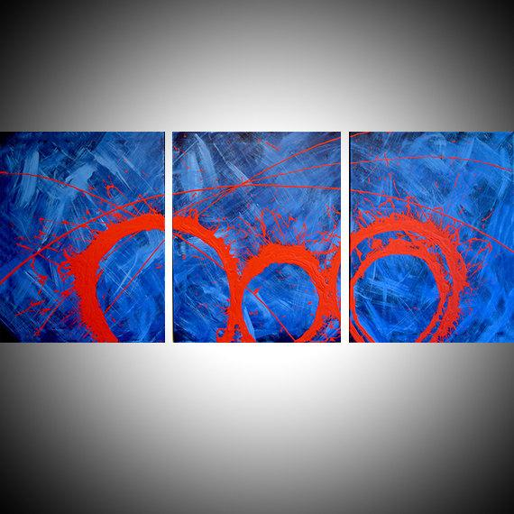 triptych huge dramatic modern artwork affordable wall art hanging huge canvas art 3 panel wall art three panel wall decor home decor 27 x 12
