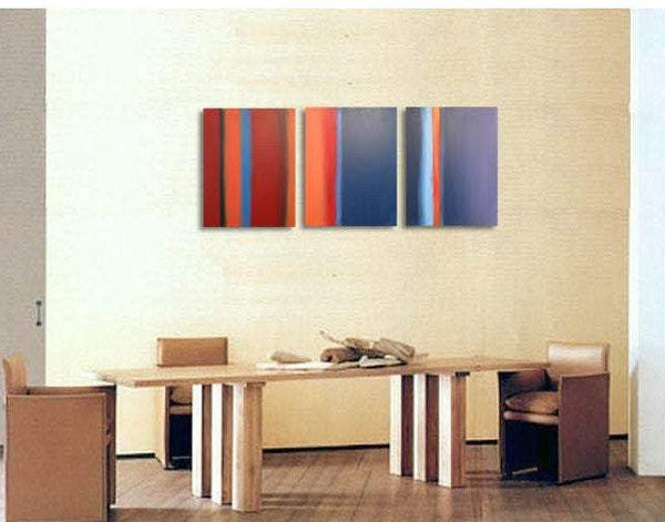 "triptych painting for sale in impasto "" Colour Flats "" original"