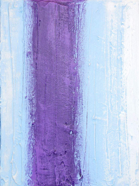 "triptych painting for sale ""purple intention"" impasto effects 3 big sizes"