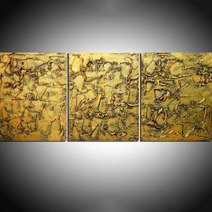 "triptych wall art for sale "" Golden Influence "" beautiful and elegant"
