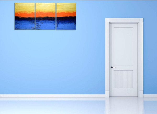 "triptych wall art "" Persuasion "" modern art for sale"