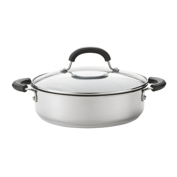 Stainless steel casserole dish with lid from Total range by Circulon