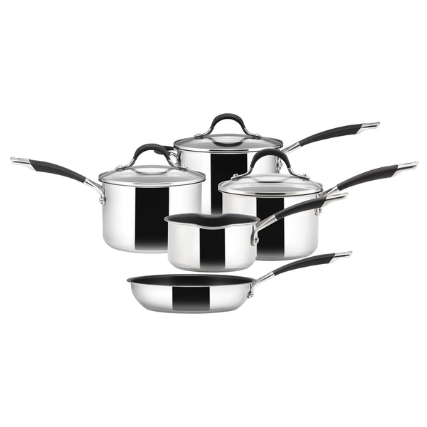 5 piece stainless steel pan set from Circulon's Momentum range.