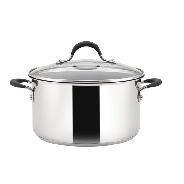 Momentum large stainless steel stockpot from Circulon, made from high quality, durable materials & comes with our lifetime guarantee