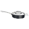 Infinite 8 piece pan set includes a non stick saute pan with stainless steel lid