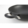 Momentum Hard Anodized 26cm stir fry pan / wok features soft, comfort grip handles for easy carrying and serving