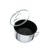 Circulon SteelShield stainless steel nonstick stockpot with lid. Built for bold cooking.