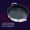 With ultra durable tri-ply body, our stainless steel nonstick sauteuse is built for bold cooking.