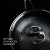 Stainless steel nonstick sauté pan with lid features stylish stay cool handles.  Discover Circulon's SteelShield range.