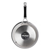 Momentum stainless steel frying pan has an edge to edge induction suitable base for all hob types