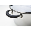 Momentum large stainless steel stockpot with silicone grip handles to support extra weight - ideal for batch cooking and one pot wonders
