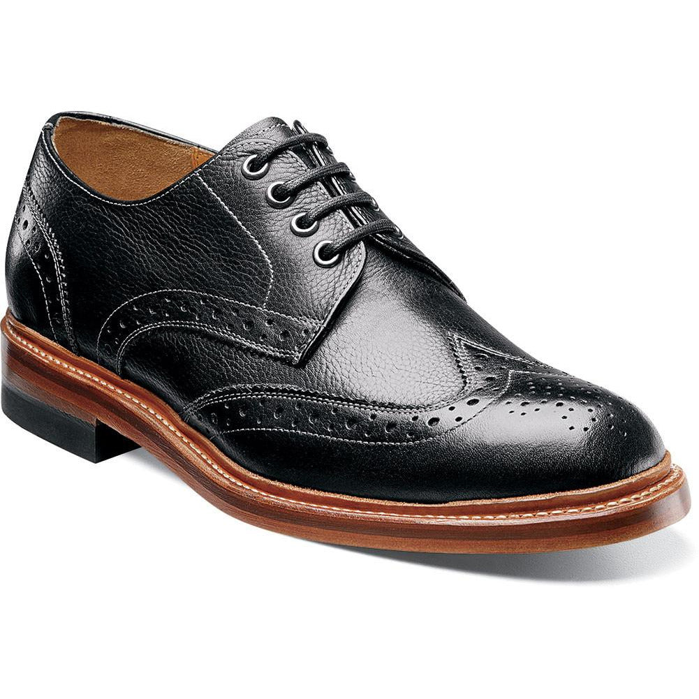 Madison II wing tip oxford BLACK / 7, Shoes - STACYADAMS, Levine Hat Co. - 1