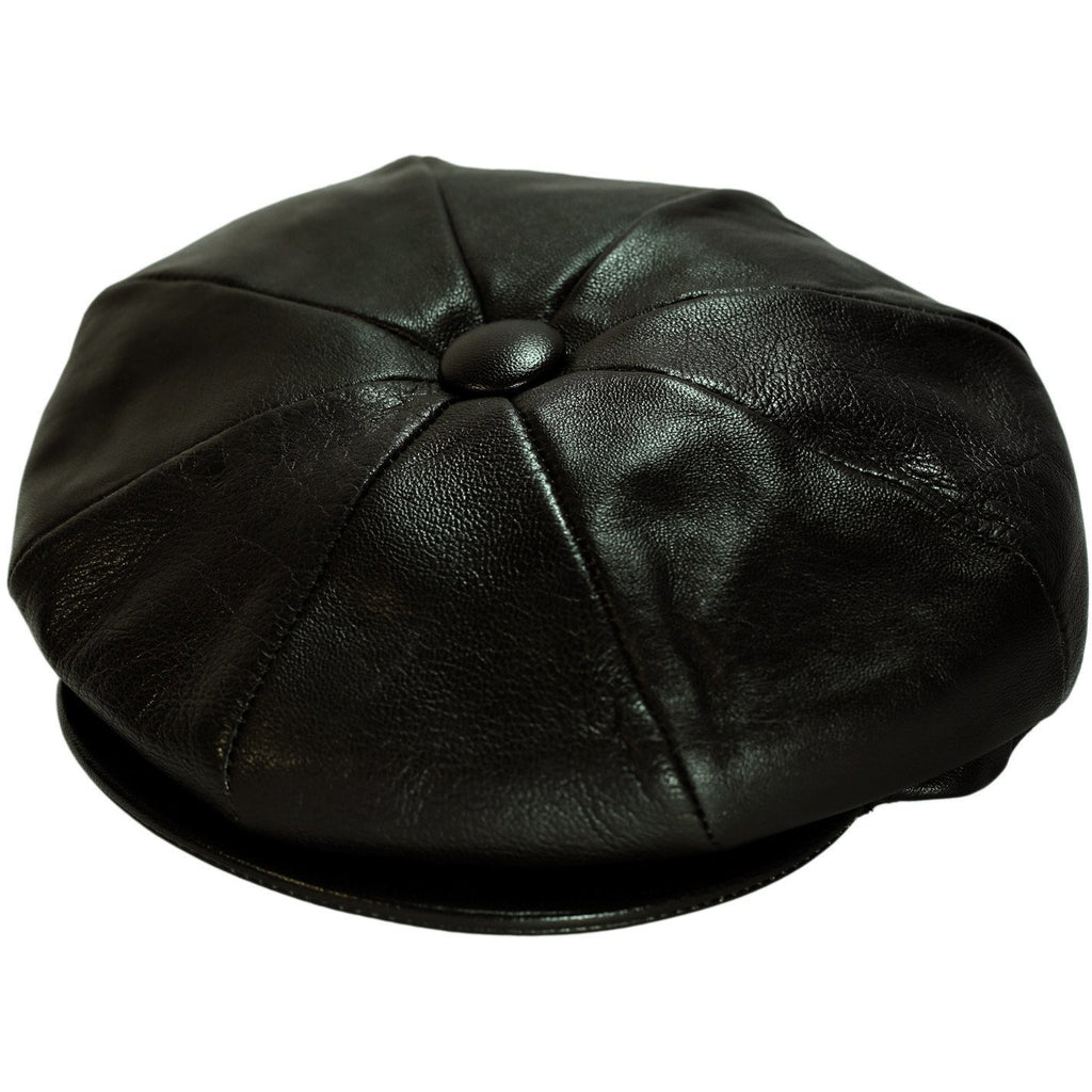 Wellington Leather 8-Panel Cap by Dobbs