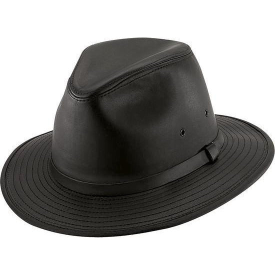 Henschel Leather Safari BLACK / L, Hats - HENSCHEL, Levine Hat Co. - 1