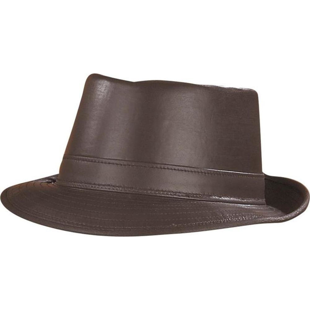 Henschel Leather Porkpie BROWN / L, Hats - HENSCHEL, Levine Hat Co. - 2