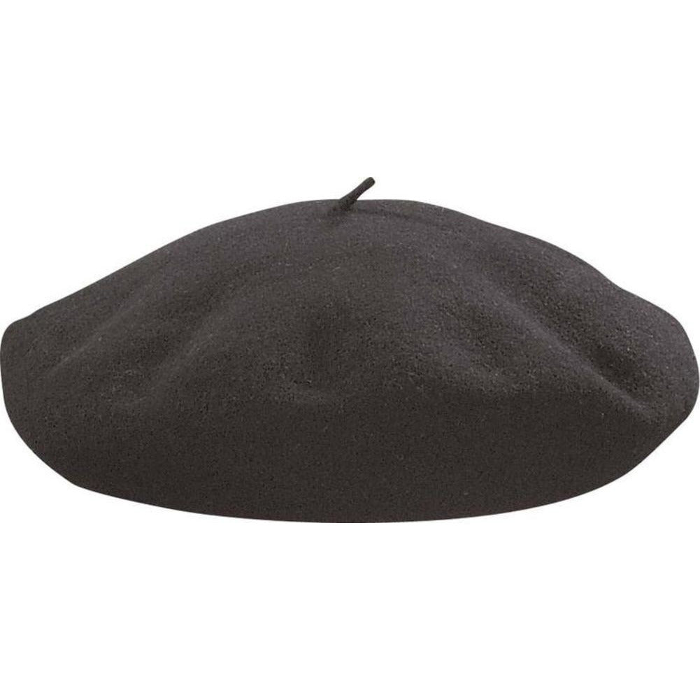 Dorfmanpacific Basque/hoquy Beret BLACK / L, Hats - DORFMANPACIFIC, Levine Hat Co. - 1