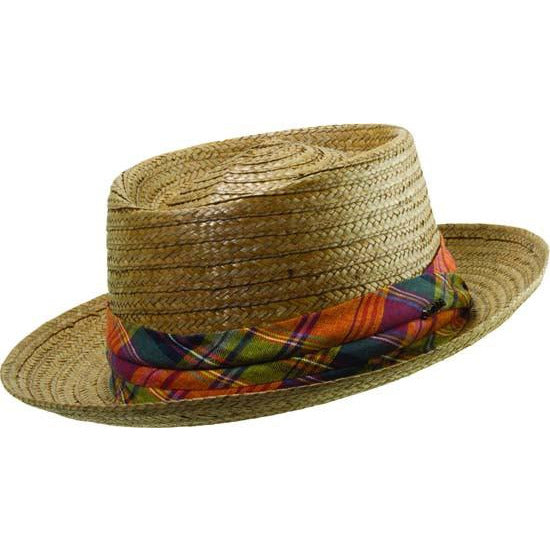 Scala Slammin' Sam Coconut Fedora BROWN / M, Hats - SCALA, Levine Hat Co.