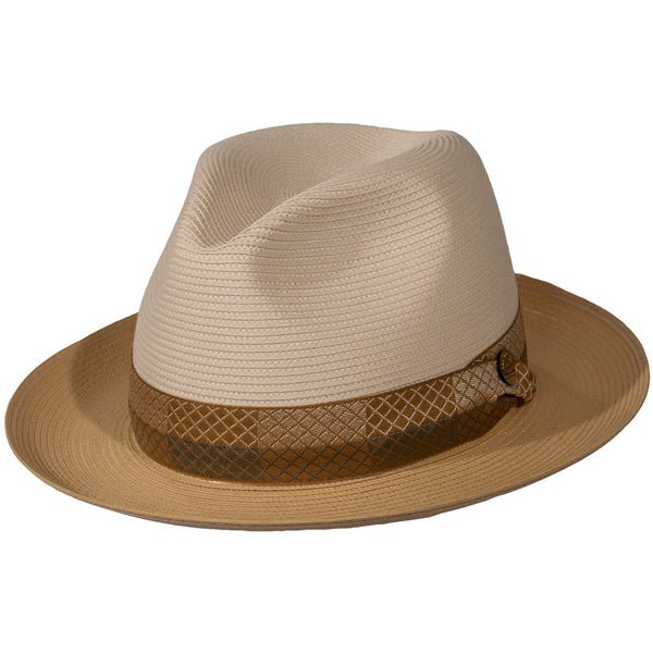 Medium Brim,  Tone-on-tone Band.