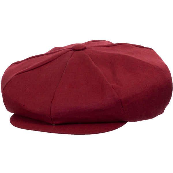 Linen Big Apple Newsboy Cap by Capas