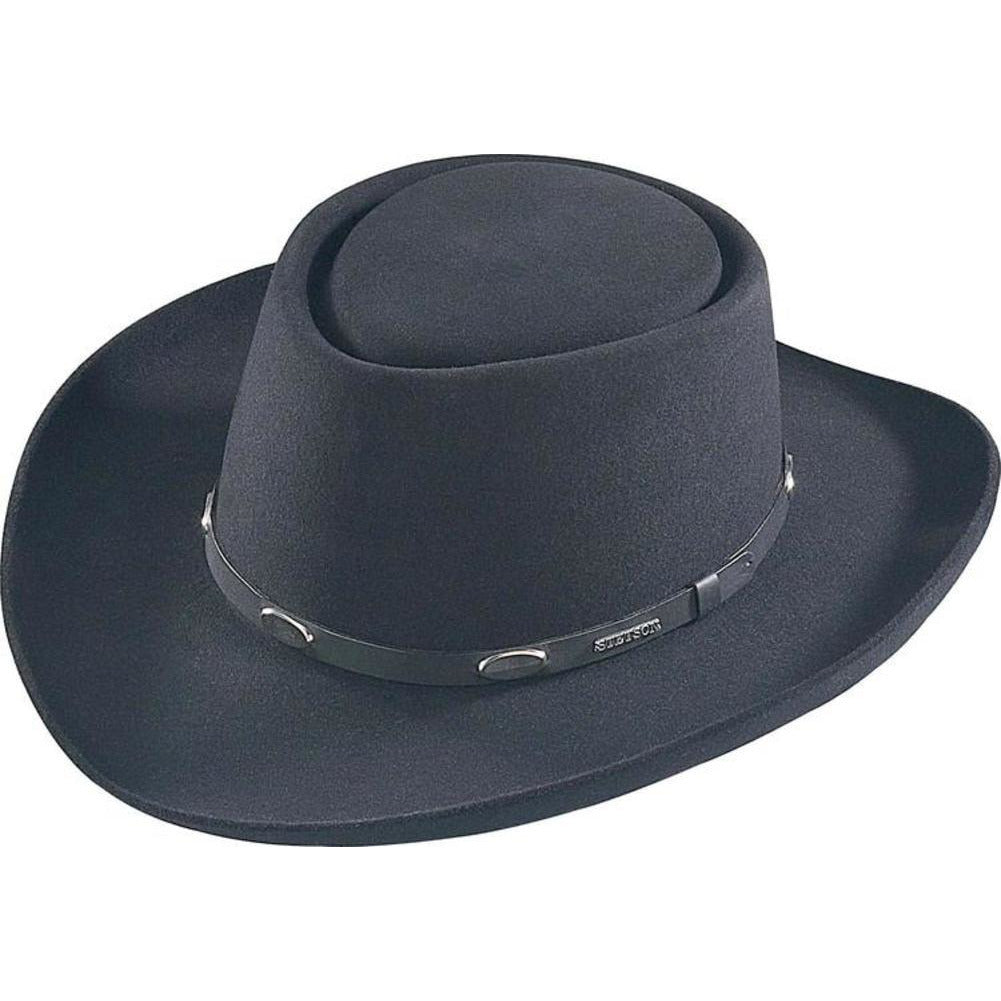 Stetson Royal Flush (felt) BLACK / 6 3/4, Hats - STETSON, Levine Hat Co.