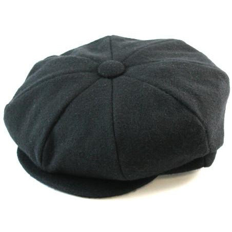 Dobbs Wellington Wool 8/4 Cap BLACK / M, Hats - DOBBS, Levine Hat Co. - 1