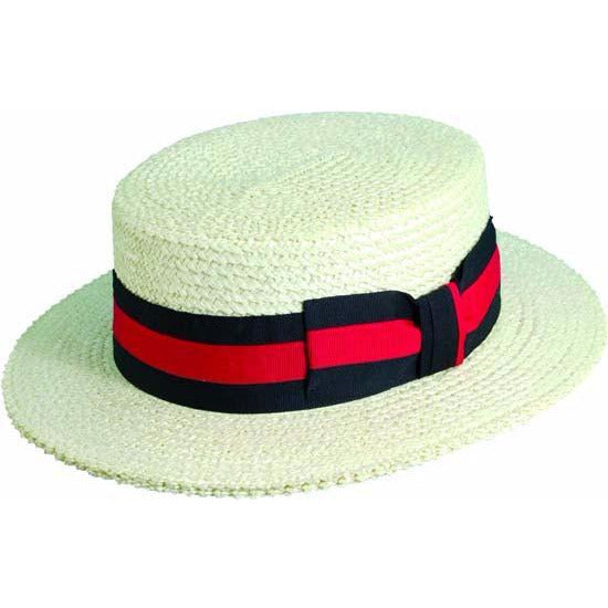 Scala Straw Boater BLEACH / L, Hats - SCALA, Levine Hat Co.