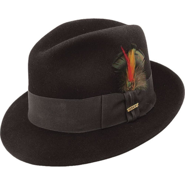 Stetson Frederick II BLACK / 6 7/8, Hats - STETSON, Levine Hat Co. - 1
