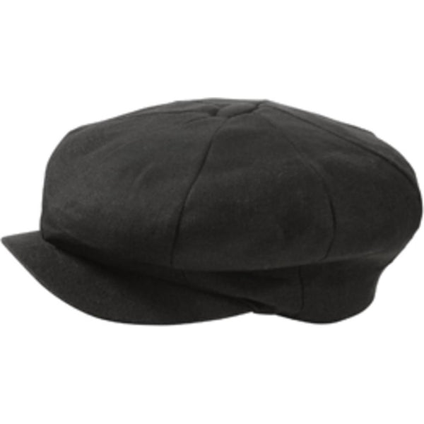 Broner Linen Big Apple Cap BLACK / ONE SIZE, Hats - BRONER, Levine Hat Co. - 2