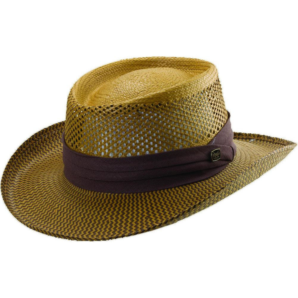 Scala Two Tone Toyo Gambler BROWN / L/XL, Hats - SCALA, Levine Hat Co.