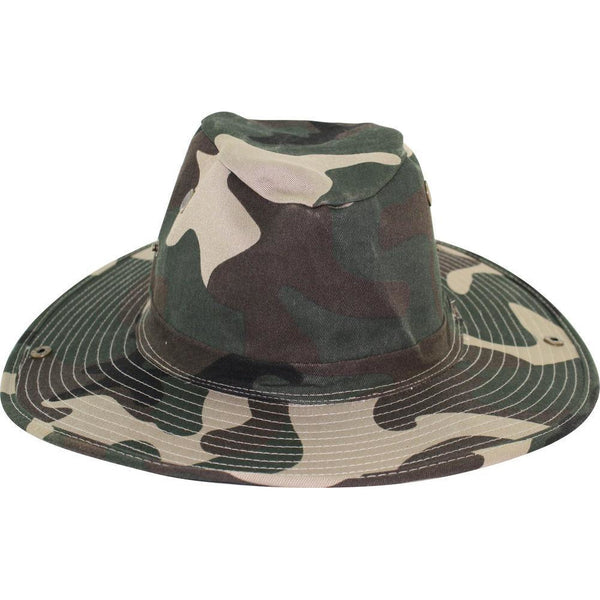 Poly Cotton Boonie Hat GREEN CAMO / L, Hats - LEVINE, Levine Hat Co. - 1