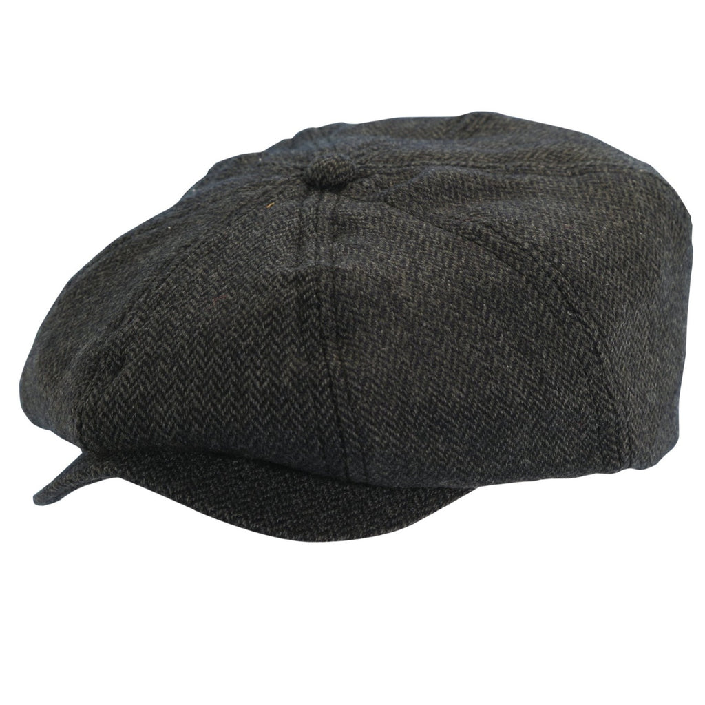 Wool Blend Newsboy Cap by Dorfman Pacific