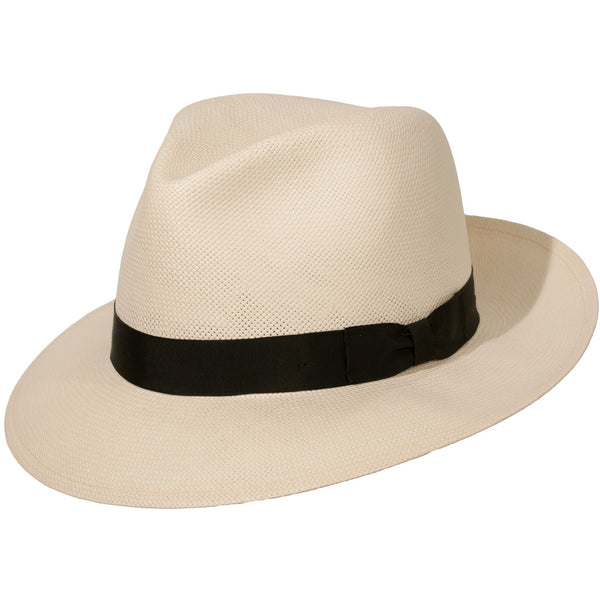 Millennium Shantung Panama Fedora by Levine Hat Co.