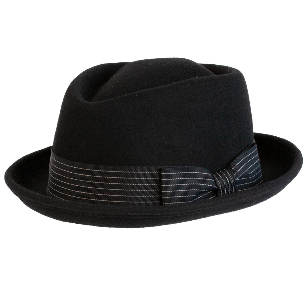9th Street Boxer Wool Porkpie BLACK
