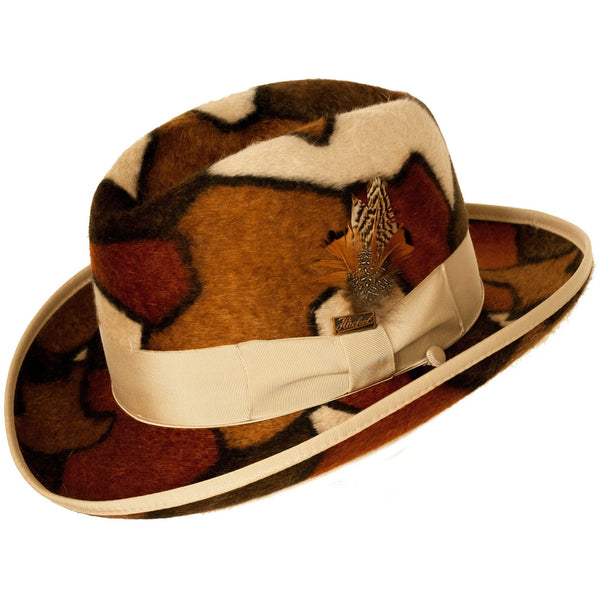 Plaza Long Hair Beaver Felt Multicolor Hat