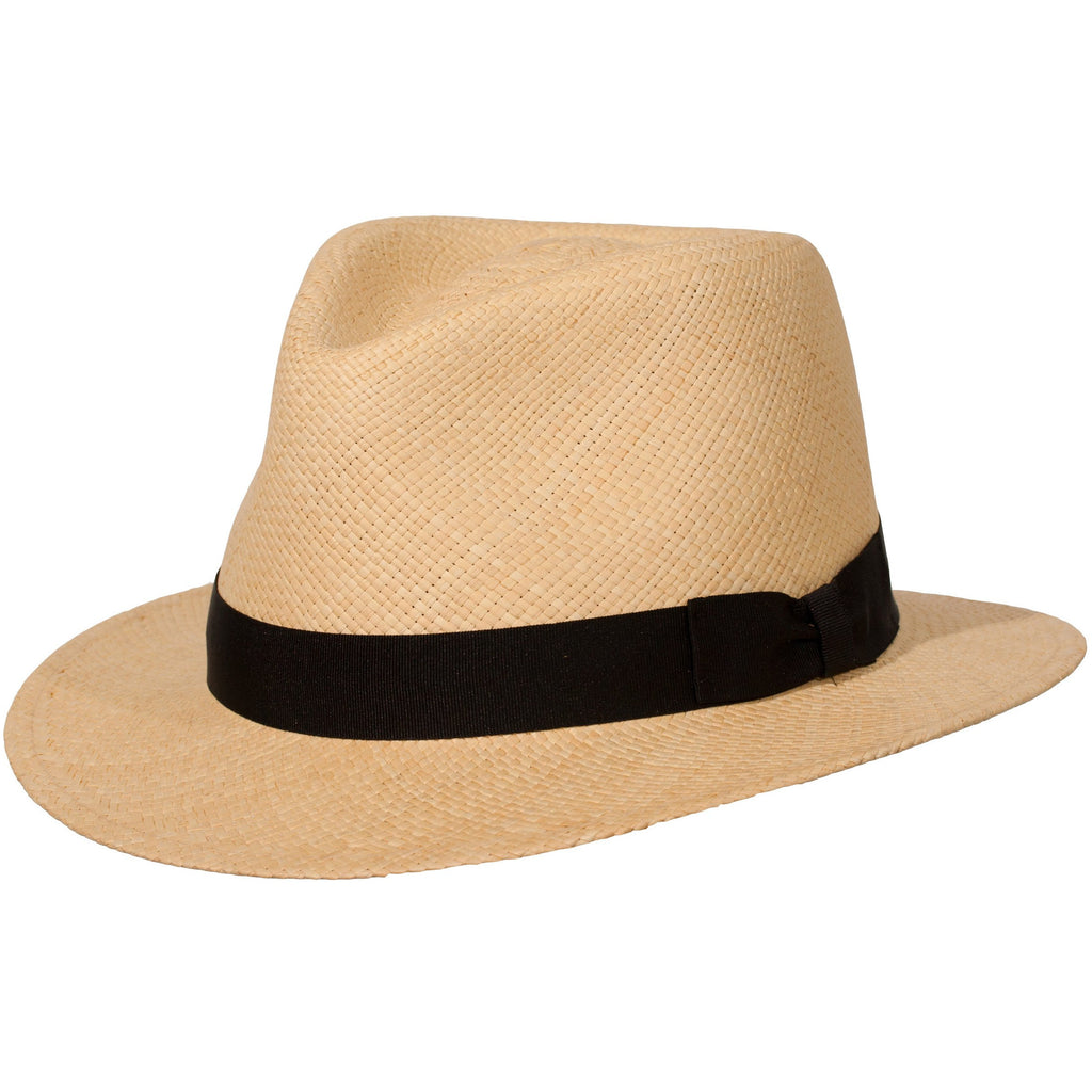 Weekender Authentic Panama Fedora by Levine Hat Co.