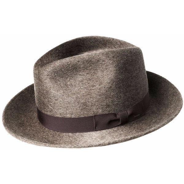 "Bailey ""Criss"" Polished Wool Felt Wide Fedora MINK"