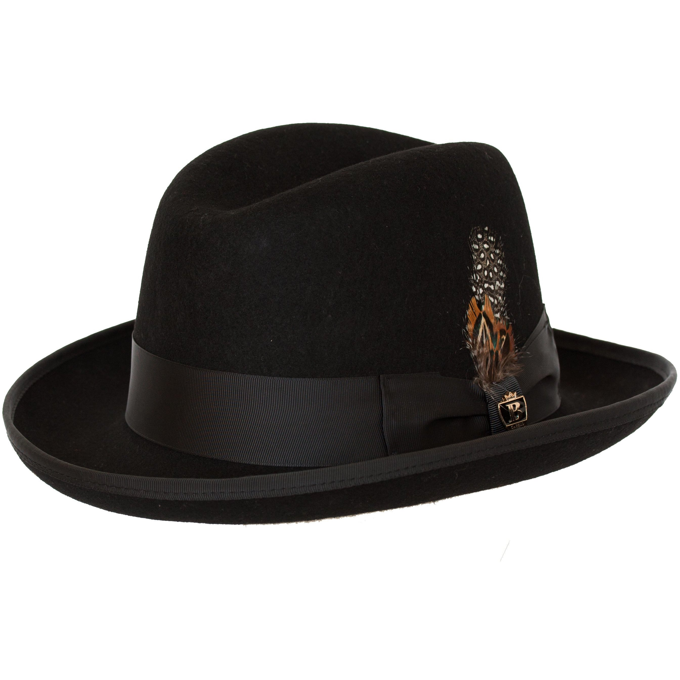 194ead6310b Godfather Firm Wool Felt Homburg by Bruno Capelo – Levine Hat Co.
