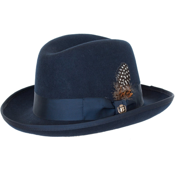Godfather Firm Wool Felt Homburg by Bruno Capelo