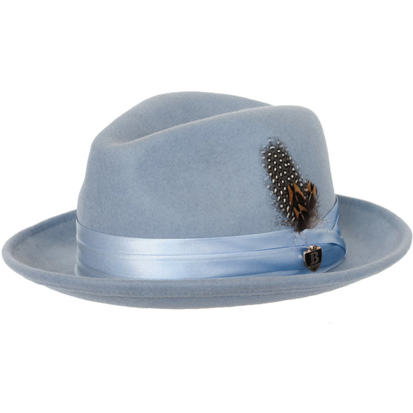 Untouchable Wool Fedora with Satin Hat Band by Bruno Capelo