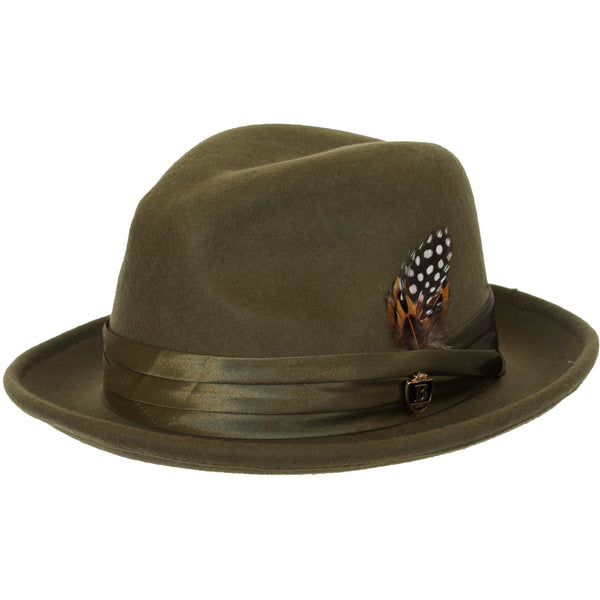 8166ddffbfd Untouchable Wool Fedora with Satin Hat Band by Bruno Capelo – Levine ...