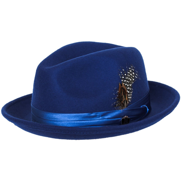 5113589093839 Untouchable Wool Fedora with Satin Hat Band by Bruno Capelo – Levine Hat Co.