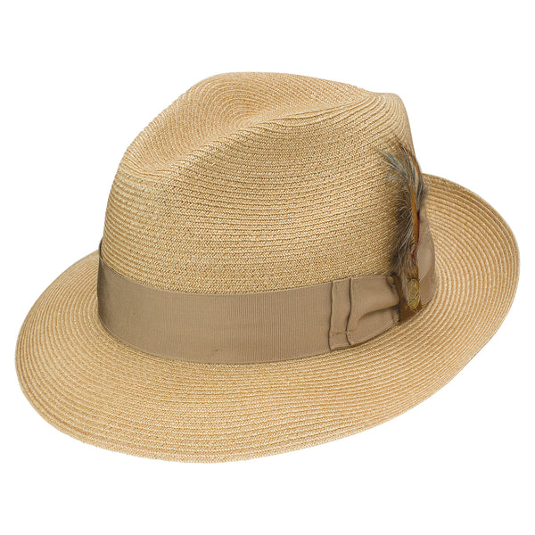 Clyde Snap Brim Hemp Fedora by Stetson